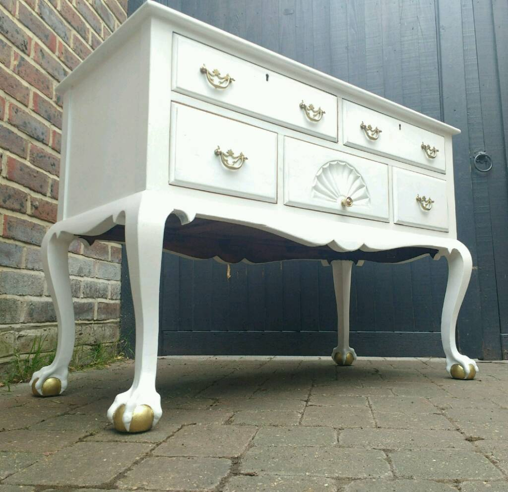 Antique Vintage Gany Sideboard Chest Of Drawers Dressing Table Ball Claw Feet Shabby Chic