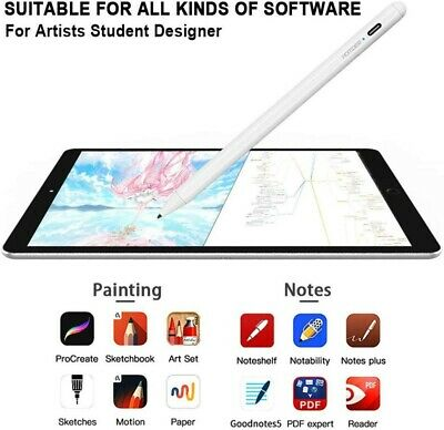 Touch Stylus Digital Pen For Apple iPad Pro Air Tablets Pencil Ultra Fine Tip UK