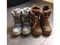X2 pairs of TU boys snow / winter boots