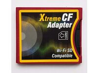 Compact Flash Card adapter with fast 32gb micro SD card for easy transfer to your hard disc
