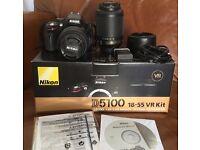Nikon D5100 DSLR twin lens