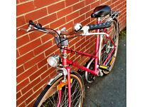 Beautiful 1980s Vintage Crescent Världsmästarcykeln Swedish Built Town Bike