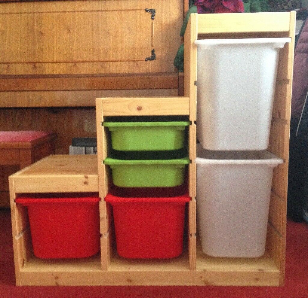 Ikea Trofast storage combination with boxes - toy storage unit / boxes & Ikea Trofast storage combination with boxes - toy storage unit ...