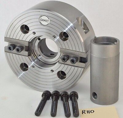 New Gamet 2 Jaw Power Chuck 6-14 Dia Lathe Power Chuck Two Jaw Wrench