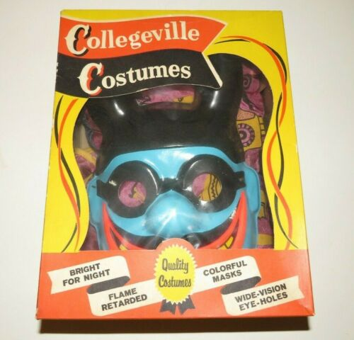 1968 Beatles Yellow Submarine BLUE MEANIE Halloween Costume in Box Collegeville