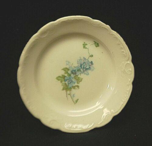 Old Vintage O&EG Royal Butter Pat Porcelain Blue Floral Pattern Scrolls Austria