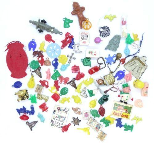 Lot of 90 Vtg Cracker Jacks Toy Prize Metal Stand Up Plastic Disney Dogs