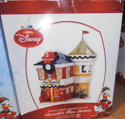 New in Box Department 56 -  Disney Donald's Fire Station - Retired