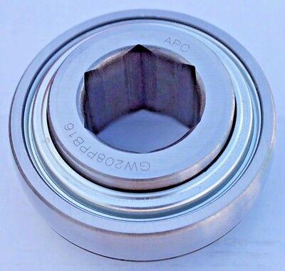 Premium Gw208ppb16 Ag Disc Harrow Bearing 1-14 Hex Bore Spherical Od Re-lube