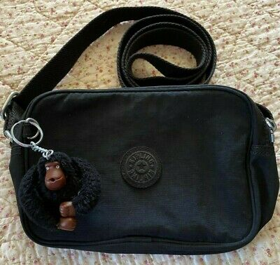 Black Kipling Dee Crossbody Bag With Monkey