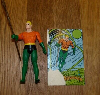 Vintage Kenner 1984 DC Super Powers Aquaman Figure Original Trident  and card