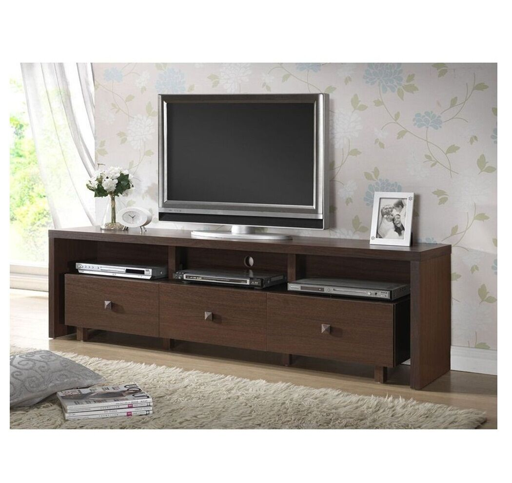 Modern tv stand entertainment media center home theater console wood furniture ebay Wooden entertainment center furniture