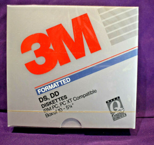 """SEALED 3M 5.25"""" DS DD Double Sided Double Density Floppy Disk *Sealed* 5 1/4"""""""