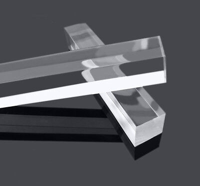 Square Clear Acrylic Plexiglass Lucite Rod Bar 1010500mm 0.40.420 Long Us