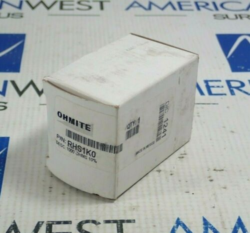 OHMITE RHS1K0 RESISTOR 1000 OHMNS 25W *NEW*