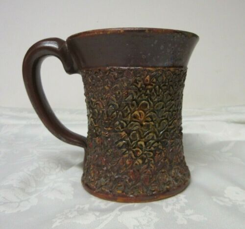 "Evans Pottery Dexter Missouri Vintage Clay Large Mug 5"" Tall  x 6"" Across"