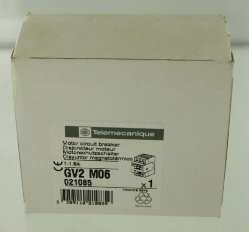 SCHNEIDER ELECTRIC TELEMECANIQUE GV2-M06 MOTOR STARTER NEW