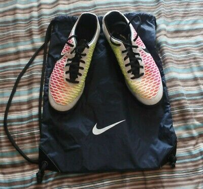 Nike White and Rainbow Magista Football Boots Size 8.5 - 3G - With Bag