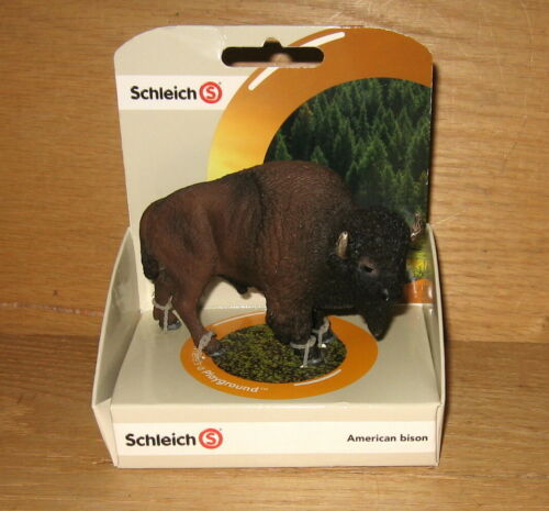 Retired Schleich 14714 American Bison Toy Figure NEW