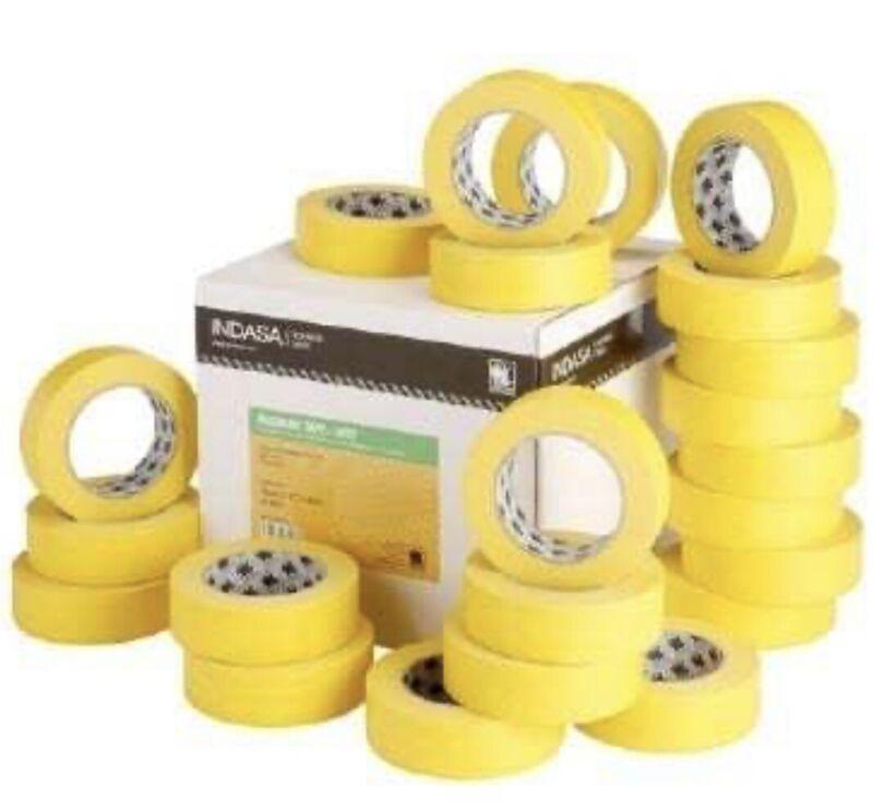 """Indasa 556740 - 3/4"""" Yellow Masking Tape - Case of 48 Rolls Automotive, Marine"""