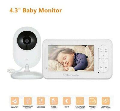 2.4Ghz  4.3Inch Digital Wireless Baby Monitor Video Audio Night Vision Nanny Cam
