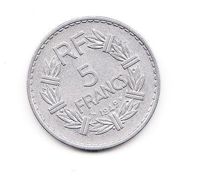 5 Franc  Frankreich 1949   Al  (991)