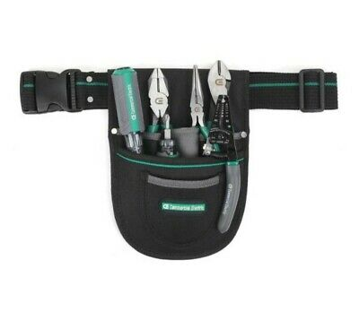 Electricians 7-piece Hand Tools Set With 6-pocket Storage Pouch And Tool Belt