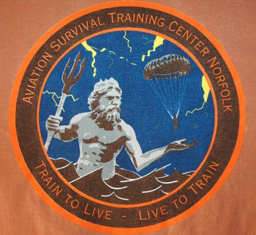 RARE Aviation Survival Training Center T Shirt U.S NAVY Norfolk Virginia NAVAL