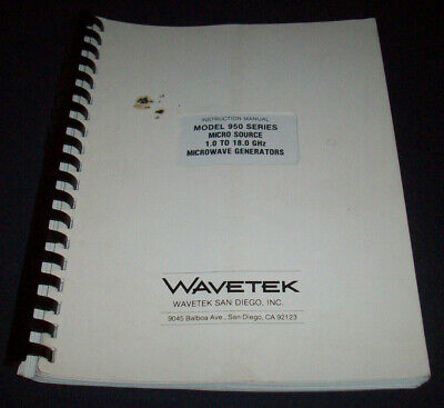 Wavetek 950 Microwave Signal Generator Manual----shelf---g