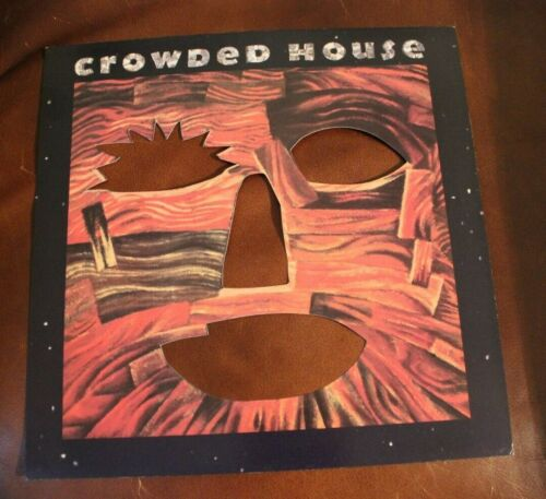 Crowded House Woodface Poster Flat 1991 Two Sided VG+