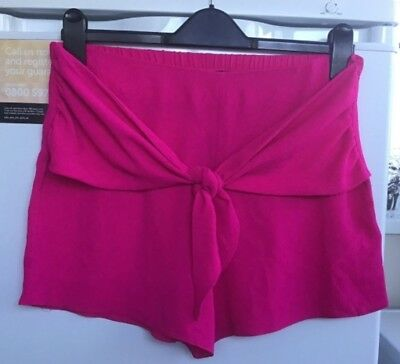 Bubble Shorts (New Look Pink Bubble Tie Shorts Size 12 ** Brand New **)