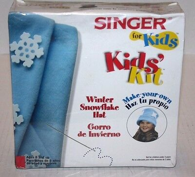 NEW SINGER for Kids Kids' Kit Make-Your-Own Winter Snowflake Hat Age 8+ FREE Shp - Winter Crafts For Kids