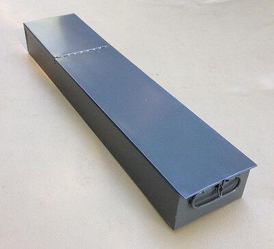 SAFE DEPOSIT BOX METAL DRAWER! SAFETY BANK TRAY CASE VINTAGE ANTIQUE GRAY 22x5x3