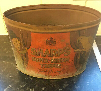 Antique Rare British Sharps Super Kreme Toffee Sweets Tin No Lid