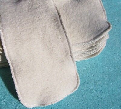 Organic Pocket Diapers - Large Inserts Soakers 15x5 Hemp Organic Cotton Fleece Cloth Pocket Diaper