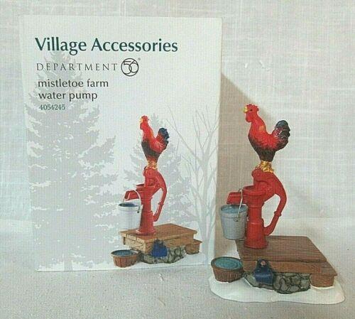 Department 56 Village Accessory Mistletoe Farm Water Pump  # 4054245