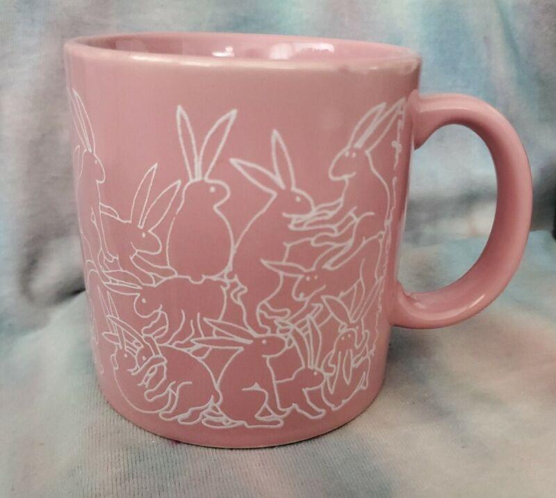 Vintage Taylor & NG naughty bunnies coffee tea mug, EUC