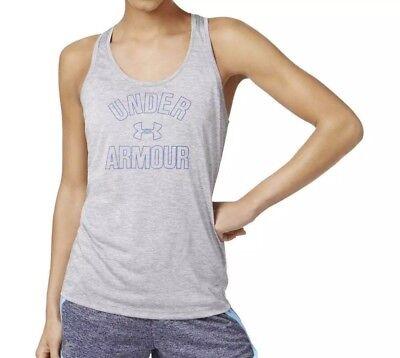 Under Armour Womens Heat Gear Loose Fit Sleeveless Tank Top Shirt Gray Sz L - Loose Gear Sleeveless