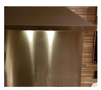 Spritzschutz 500x750x0,8mm K240 Herdblende Spritzblende Küchenrückwand Edelstahl