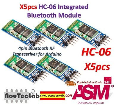 5pcs HC-06 Modulo Senza fili Arduino HC06 Bluetooth con base Schiavo per Arduino