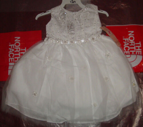 New Baby Girls Christening Baptism Wedding Dress White Flower Girl Bautizo 12m