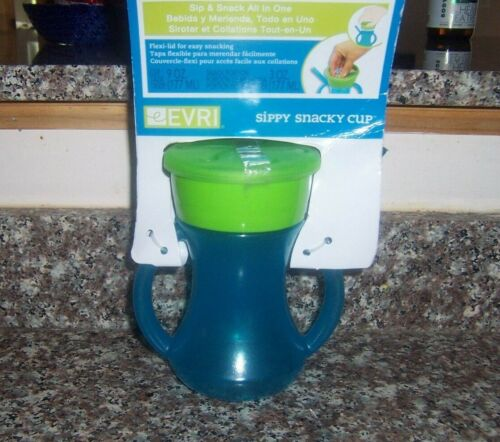 Sippy Snacky Cup brand new Blue green