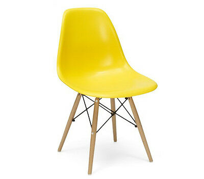 Eames Inspired Eiffel Plastic DSW Lounge Dining Chairs - Retro - Panton
