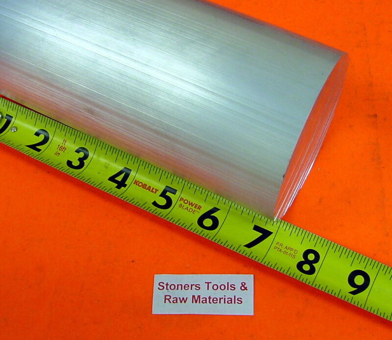 "3-1/2"" ALUMINUM 6061 ROUND ROD 7"" long T6511 Solid Lathe Bar Stock 3.5"" OD"