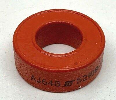 Aj648 52188-1d Orange Toroid Torroidal Inductor Ferrite Core 34 X 17 X 12mm