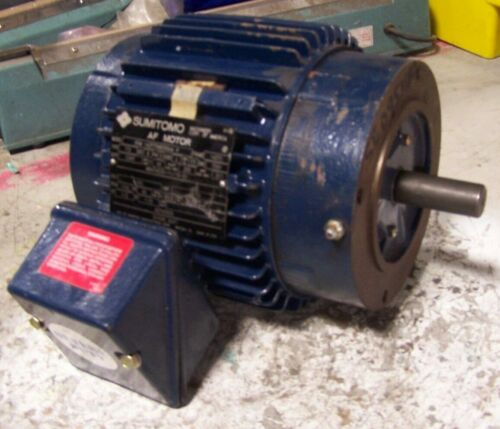 NEW MARATHON SUMITOMO 1/2 HP ELECTRIC MOTOR 460 VAC 1750 RPM 143TC FRAME 3 Ø