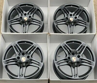 "19"" Porsche 911 997 TURBO Factory OEM Genuine wheels rims charcoal gray"
