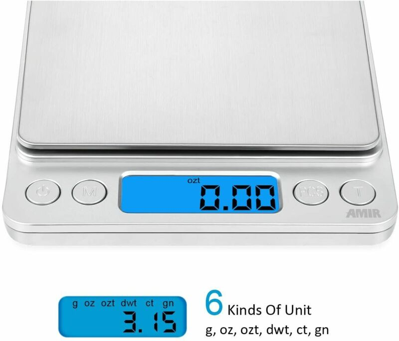 Digital Scale 3000g x 0.1g Jewelry Gold Silver Coin Gram Pocket Size Grain Herb