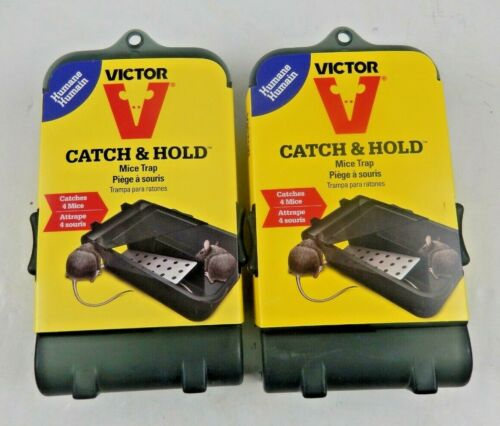 2x Victor Catch & Hold Live Mice Mouse Trap Humane Release Up to 4 Mice NEW NIB