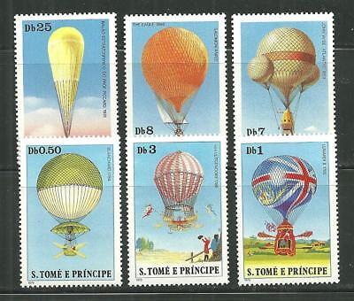 ST THOMAS AND PRINCE 555-60 MNH HOT AIR BALLOONS SCV 9.25